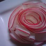 赤大根のバラ♪