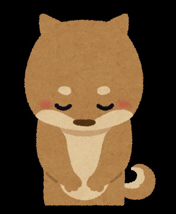 お辞儀する犬のイラスト