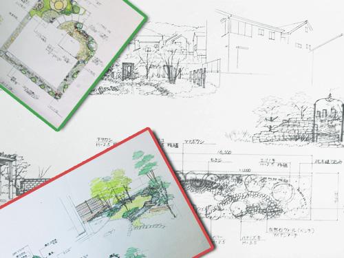 イラスト:庭の設計図